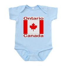 Ontario Flag Canada Infant Creeper
