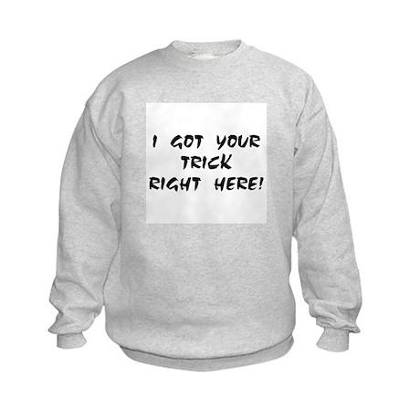 YOUR TRICK RIGHT HERE! Kids Sweatshirt