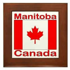 Manitoba Flag Canada Framed Tile