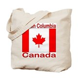 British Columbia Flag Canada Tote Bag