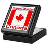British Columbia Flag Canada Keepsake Box