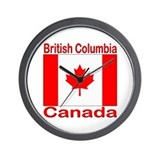 British Columbia Flag Canada Wall Clock
