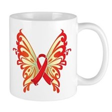 AIDS Ribbon Butterfly Mug