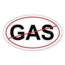 "No GAS ""Green"" Oval Decal"