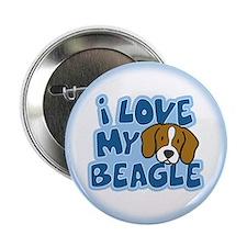 """I Love my Beagle 2.25"""" Button"""