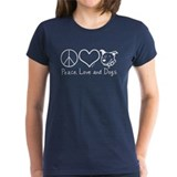 Peace Love and Dogs! Tee