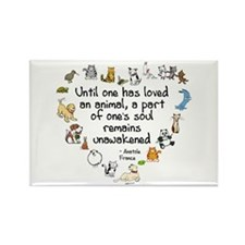 Until One Has Loved An Animal Rectangle Magnet (10