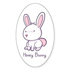 Honey Bunny Oval Sticker (10 pk)