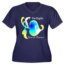 TWILIGHT Women's Plus Size V-Neck Dark T-Shirt