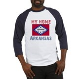 My Home Arkansas Vintage Styl Baseball Jersey