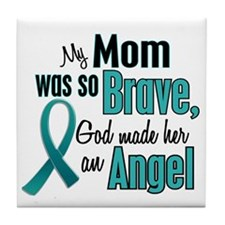 Angel 1 TEAL (Mom) Tile Coaster