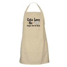 Cats Love Me BBQ Apron