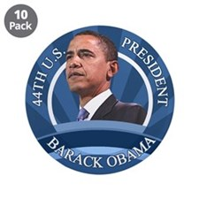 "1-20-09 Inauguration Day 3.5"" Button (10 pack)"