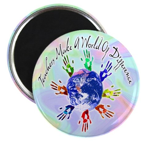 "World of Difference 2.25"" Magnet (100 pack)"