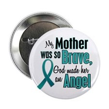"Angel 1 TEAL (Mother) 2.25"" Button"