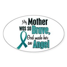Angel 1 TEAL (Mother) Oval Decal