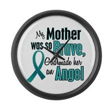 Angel 1 TEAL (Mother) Large Wall Clock