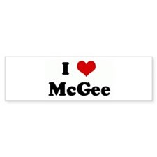 I Love McGee Bumper Sticker (50 pk)