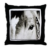 Horse Eye Art Throw Pillow