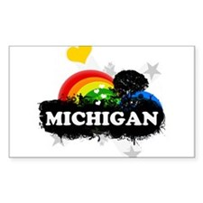 Sweet Fruity Michigan Rectangle Decal