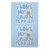 I Love my Cairn Terrier Sticker (Cartoon)