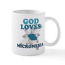 God Loves Micronesia Mug