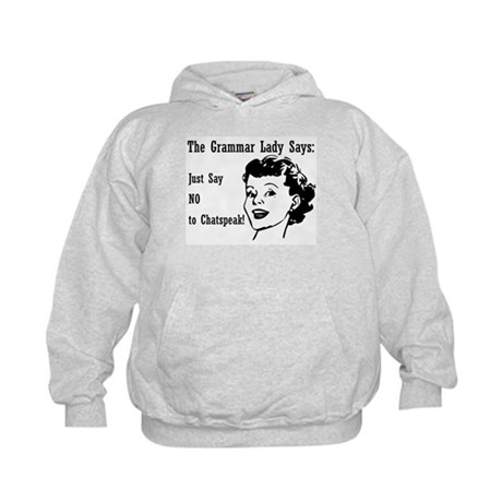 Chatspeak: Just Say NO Kids Hoodie