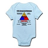12th Armored Division 495th Infant Bodysuit