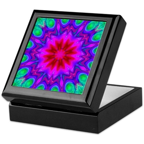 Peacock Flower Keepsake Box
