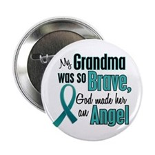 "Angel 1 TEAL (Grandma) 2.25"" Button"