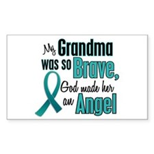 Angel 1 TEAL (Grandma) Rectangle Decal