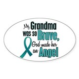 Angel 1 TEAL (Grandma) Oval Decal