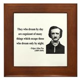 Edgar Allan Poe 3 Framed Tile