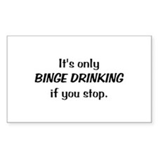 BINGE DRINKING Rectangle Decal