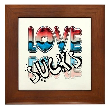Love Sucks Framed Tile