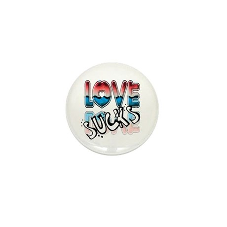 Love Sucks Mini Button (10 pack)