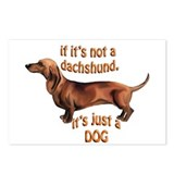 dachshund Just a dog Postcards (Package of 8)