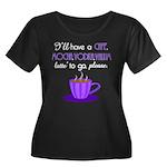 Cafe Latte Women's Plus Size Scoop Neck Dark T-Shi