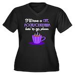 Cafe Latte Women's Plus Size V-Neck Dark T-Shirt