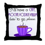 Cafe Latte Throw Pillow