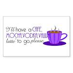 Cafe Latte Rectangle Sticker 50 pk)