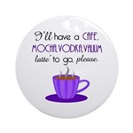 Cafe Latte Ornament (Round)