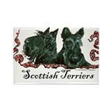 Scottish Terrier Pair Rectangle Magnet (10 pack)