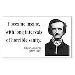 Edgar Allan Poe 7 Rectangle Sticker