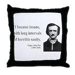 Edgar Allan Poe 7 Throw Pillow