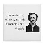 Edgar Allan Poe 7 Tile Coaster