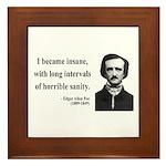 Edgar Allan Poe 7 Framed Tile