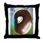Opal Jacobin Pigeon Throw Pillow