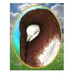 Opal Jacobin Pigeon Small Poster