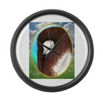 Opal Jacobin Pigeon Large Wall Clock